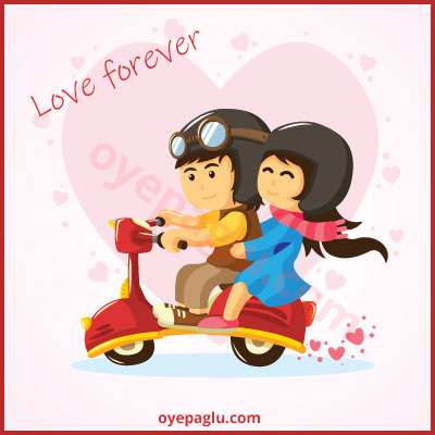 romantic dp for whatsapp with scooter