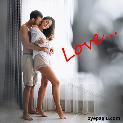 romantic dp for whatsapp of kissing from back