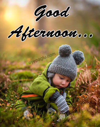 cute baby good afternoon image