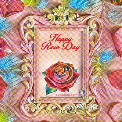 happy rose day unique image