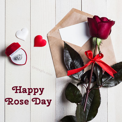 happy rose day with ring