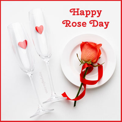 wine glass happy rose day