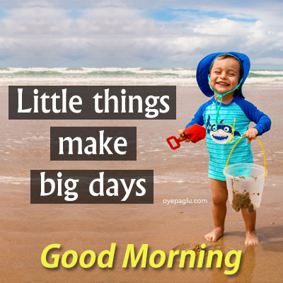Little things make big days good morning images with quotes