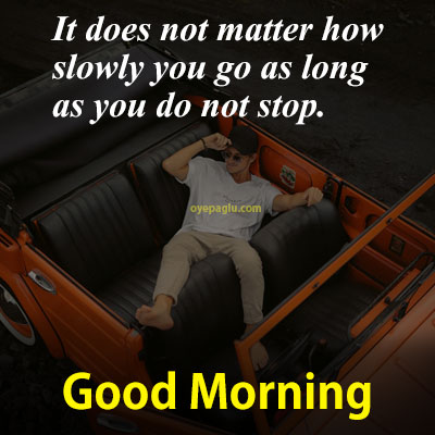 A man with car good morning images with quotes