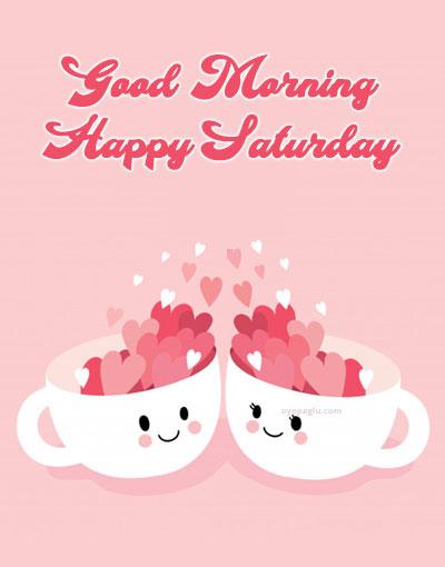 beautiful love cup good morning saturday image