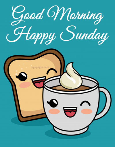 bread and coffee good morning sunday image