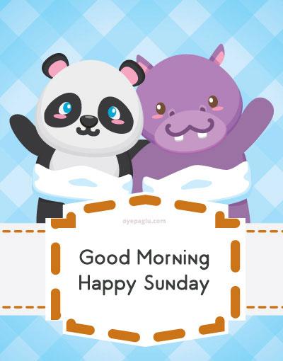 cartoon good morning sunday image