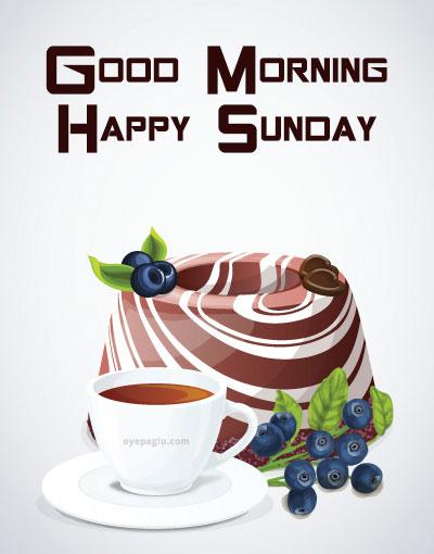 coffee pudding good morning sunday image