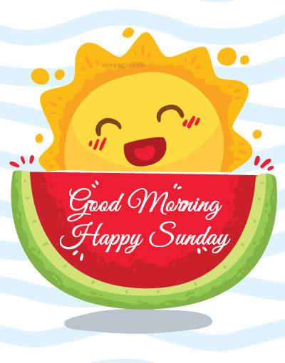 cute summar sun good morning sunday image