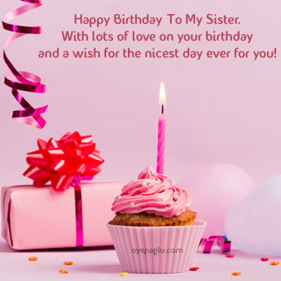 happy birthday to my sister image