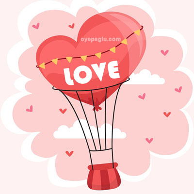 hot air balloon heart love image