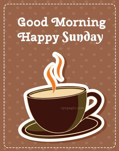 hot coffee good morning sunday image