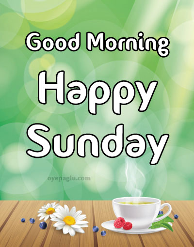 hot tea good morning sunday image