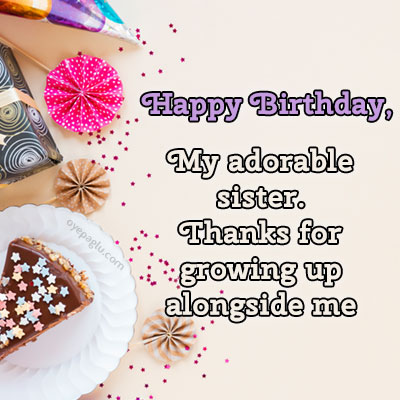 my adorable sister happy birthday sister image