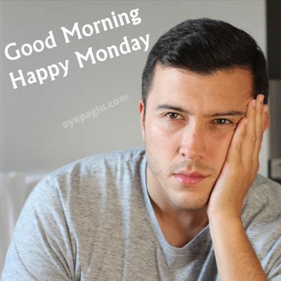 sad man good morning monday image
