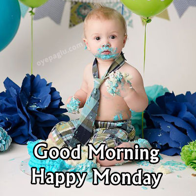 shocked baby with night party good morning monday image