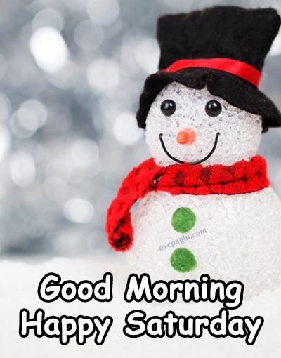 snowman happy saturday good morning image