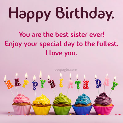 you are the best sister ever happy birthday sister image