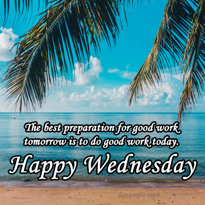Beautiful outdoor beach and sea Wednesday blessings images
