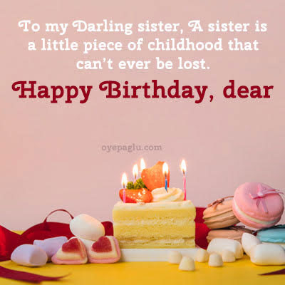 To my darling sister happy birthday sister image