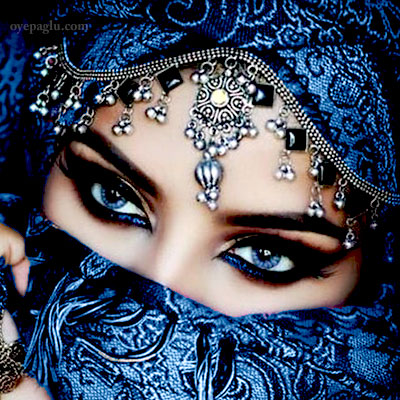blue eyes muslim girls dp