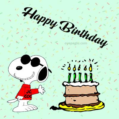 cool snoopy happy birthday image