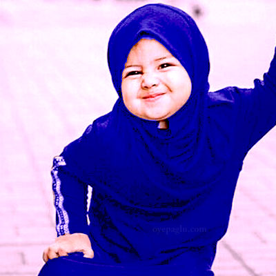 cute smile baby muslim girls dp