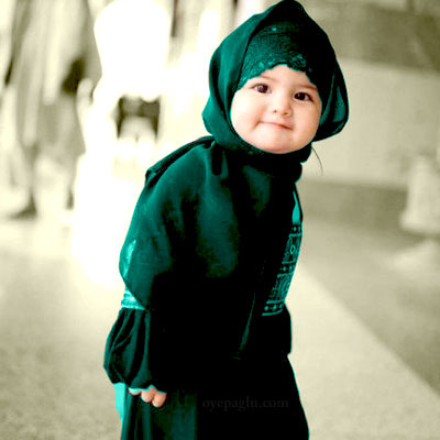cutness baby muslim girls dp