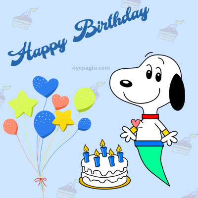 fly snoopy happy birthday images