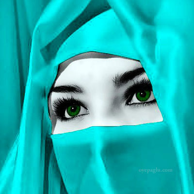 green eyes muslim girls dp