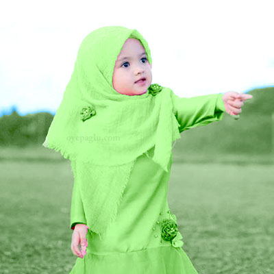 green naqab baby muslim girls dp