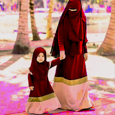 hijab small child muslim girls dp