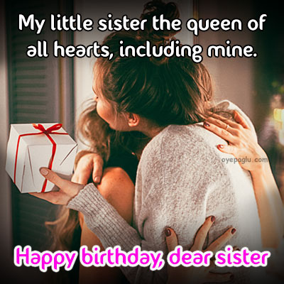little sister happy birthday sister image