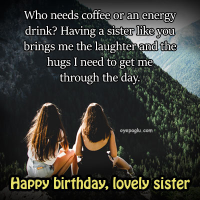 lovely sister happy birthday sister image