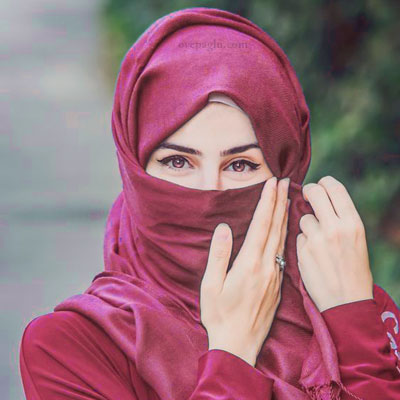 pink eyes muslim girls dp