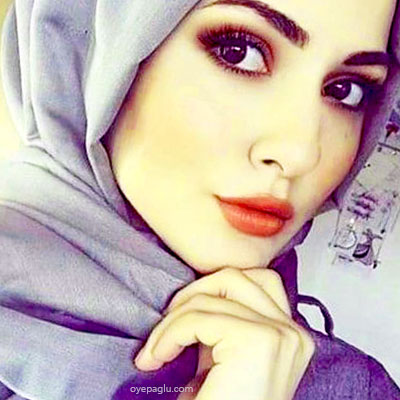 purple shade muslim girls dp