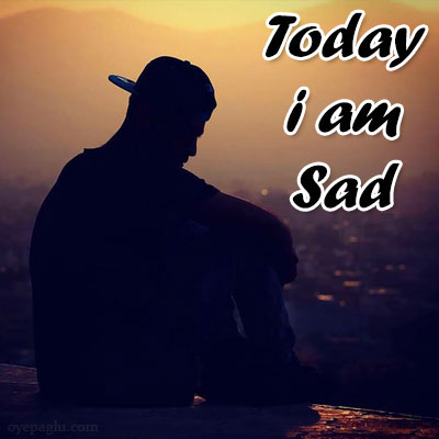 today i am sad Dp
