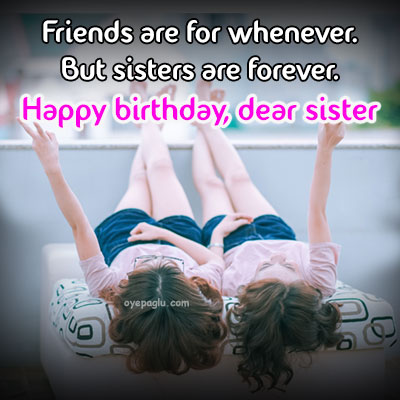 sisters are forever happy birthday sister image