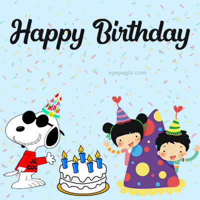 snoopy birthday celebrate with friends happy birthday images