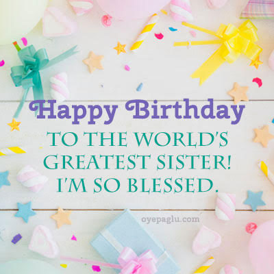 world greatest sister happy birthday sister image