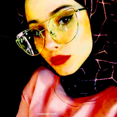 yellow shade muslim girls dp