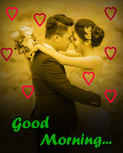heart background good morning images for her