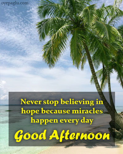 Never stop believing good afternoon wishes