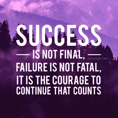 Success is not final Positive dp quotes