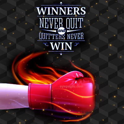 Winners and quitters Motivational quotes images
