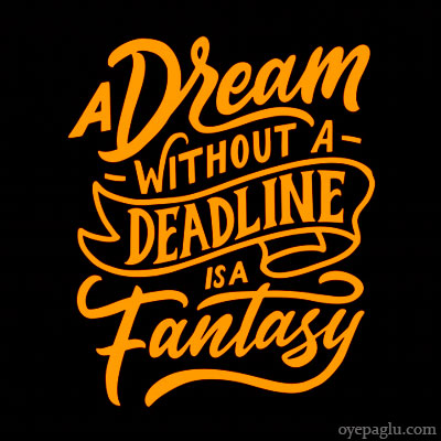 a dream without a deadline is a fantasy