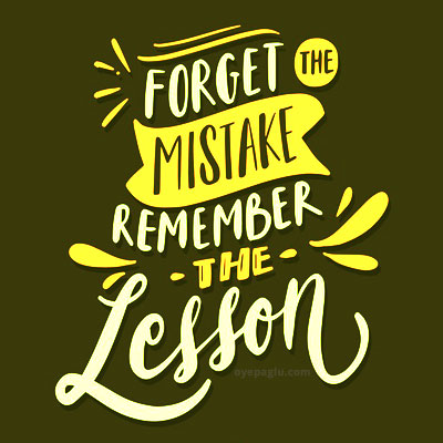 forget the mistake Motivational quotes images