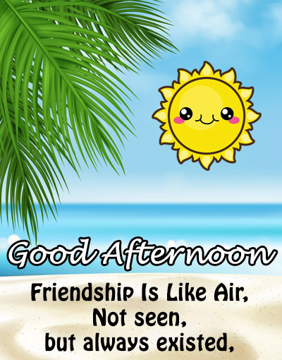 friendship is like air good afternoon wishes