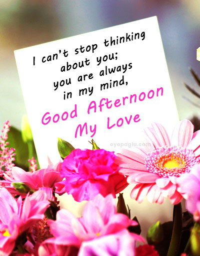 good afternoon my love wishes