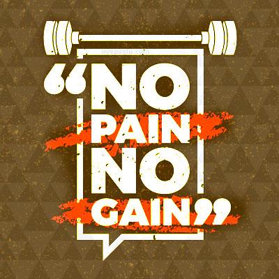 no pain no gain Positive quotes images